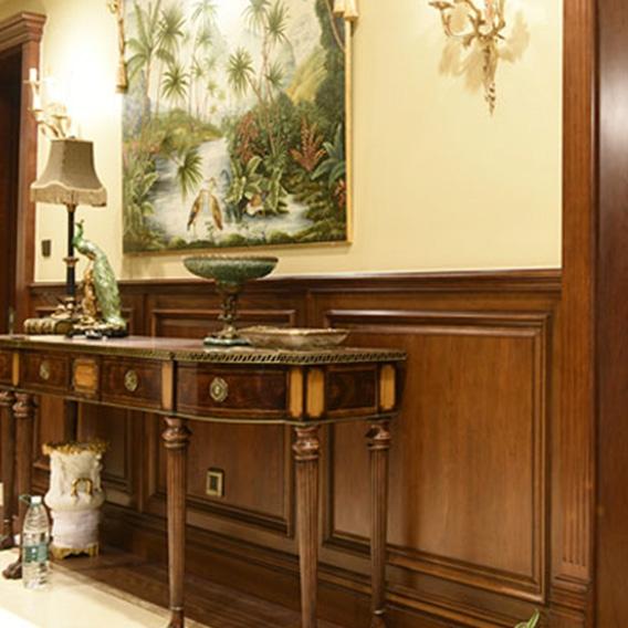 Log home wall panel